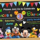 Mickey mouse Birthday Invitation, mickey mouse clubhouse birthday invitation