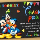 Minnie mouse thank you card,Minnie mouse chalkboard,Mickey mouse clubhouse thank you card