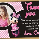 Minnie mouse thank you card,Minnie mouse chalkboard,Minnie mouse clubhouse thank you card