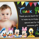 Baby Minnie mouse thank you card,Minnie mouse chalkboard,baby mickey mouse thank you card