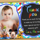 Mickey mouse thank you card,Mickey mouse chalkboard,Mickey mouse clubhouse thank you card