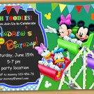 Mickey mouse Birthday Invitation, mickey mouse clubhouse birthday invitation