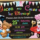 Baby Minnie mouse Invitation,Minnie mouse first birthday invitation,baby mickey mouse invitation