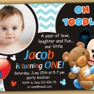 Baby Mickey mouse Invitation,Mickey mouse first birthday invitation,baby mickey mouse invitations
