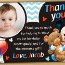 Baby Mickey mouse thank you card,Baby Mickey mouse chalkboard,mickey mouse thank you card