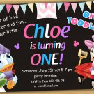 Baby Minnie mouse Invitation,Minnie mouse first birthday invitation,baby Minnie mouse invitations