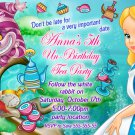 Alice in wonderland Invitation,mad hatter birthday Invitation,mad hatter tea party invitation