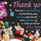 Alice in wonderland thank you card, tea party Thank you card, mad hatter thank you card
