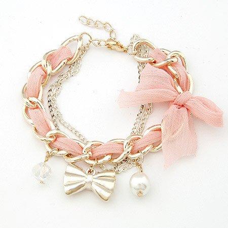 $5 Fashion Gold Bow Charm Bracelet
