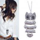 $5 Vintage Silver Owl Pendant Necklace