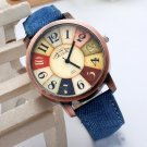 $10 Casual Unisex Vintage Demin Fabric Watch