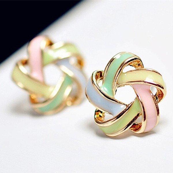 $5 Trendy Stripe Stud Earrings