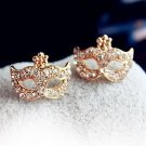 $5 Full Rhinestones Magic Mask Stud Earrings