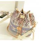 $15 Bohemia Canvas Drawstring Bucket Bag