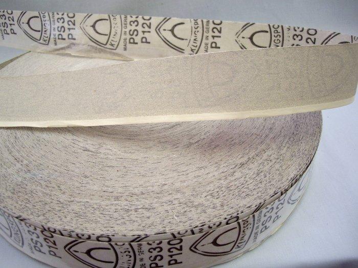 """50 YARDS Kingspor PS 33  P 120 Grit Sandpaper Roll 2"""" Wide"""