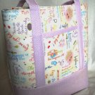 Structured Large Tote, Diaper bag, Knit or Sew Tote, Carry all - Here Comes the Bride