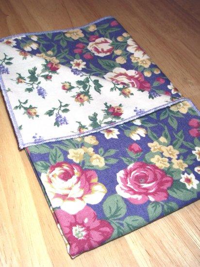 Cottage Roses - Light Purple - Double Sided Cloth Napkins - Set of 4
