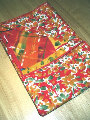 Watercolor Look Red Floral - Double Sided Cloth Napkins - Set of 4