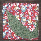 "Double Flannel Blanket - Snowmen & Holly - 52"" x 40"""