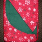 "Double Flannel Blanket - Old Fashioned Christmas Snowflakes - 52"" x 40"""