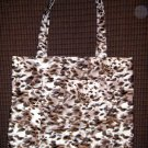 Large Tote - Wild Animal Print - Fabric Handles