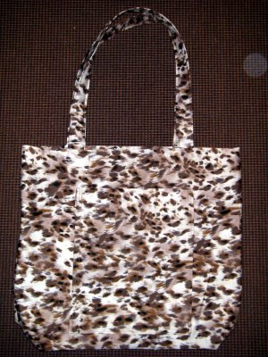 Large Tote - Wild Animal Print - Fabric Handles