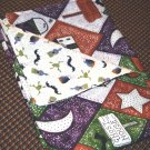 Bats, Frogs & Cauldrons Halloween Print - Double Sided Cloth Napkins - Set of 4