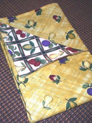 Autumn Gold & Fruit - 4 Double Sided Cloth Napkins - Set of 4