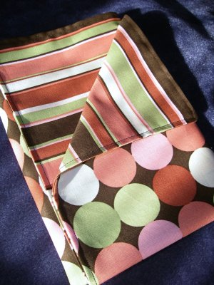 Chocolate and Pink - Double Sided Cloth Napkins - Set of 4