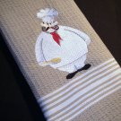 French Chef with Wooden Spoon - Embroidered Chef's Towel