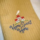 Home Sweet Home - Golden Yellow Microfiber Towel - Embroidered Hand Towel