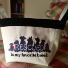 Rescued is my Favorite Breed - Fabric Basket - Pet Toy Basket