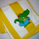 Swimming Alligator Embroidered Beach Towel - Kiddie sized
