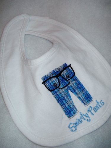Smarty Pants embroidered Baby Bib