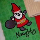 Naughty Gnome Embroidered Terry Cloth Towel