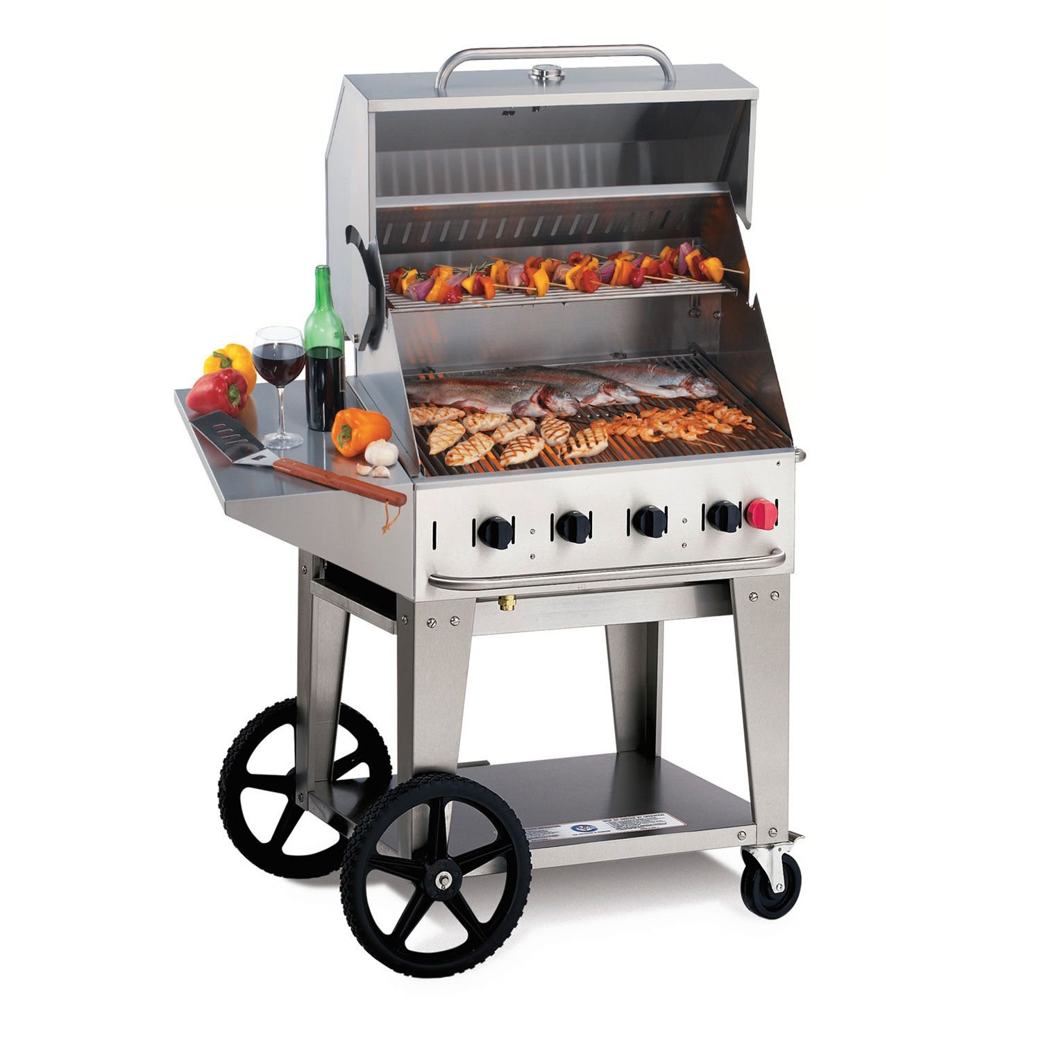 """Commercial Elite Package 36"""" Stainless Steel Propane Gas Grill"""