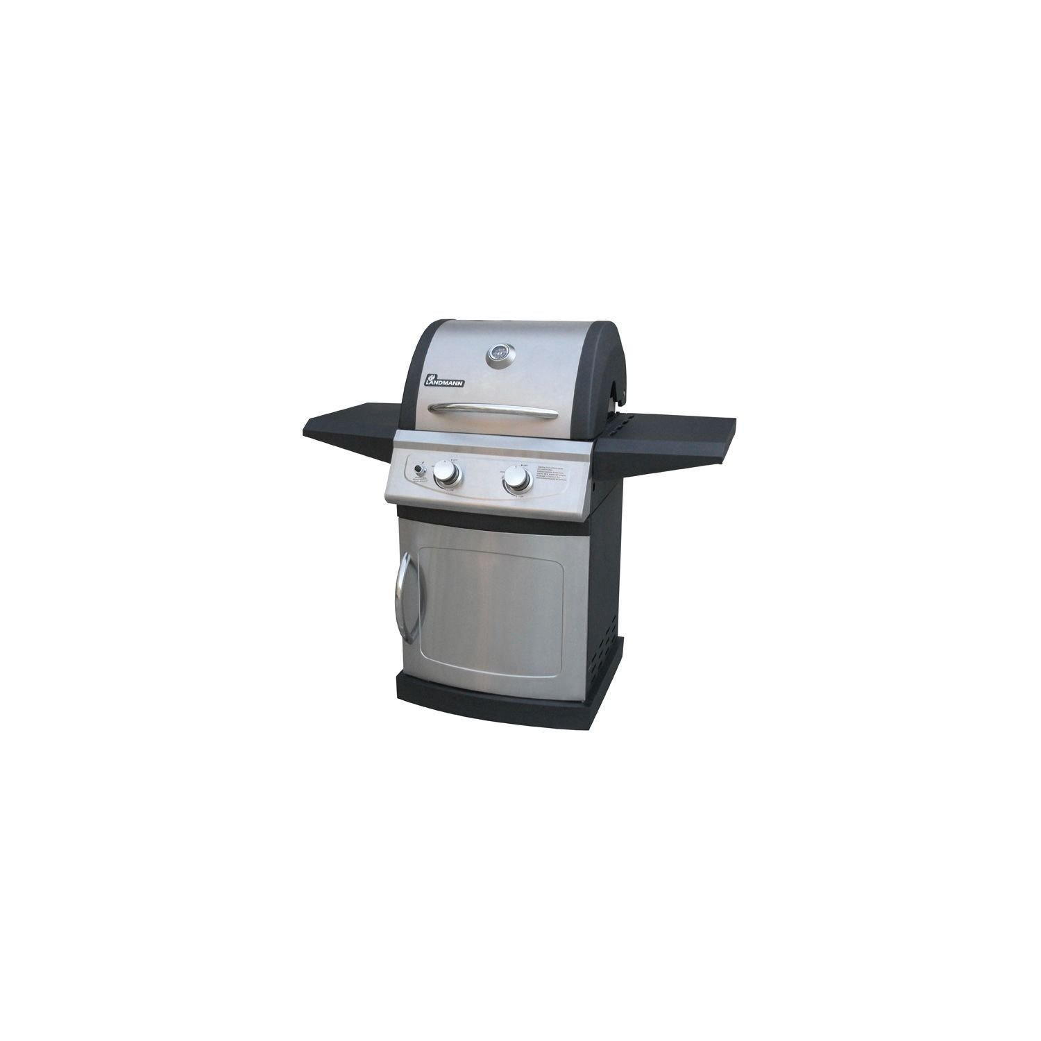 Landmann Falcon Series LP Gas Grill 2 Burner Black and Stainless Steel