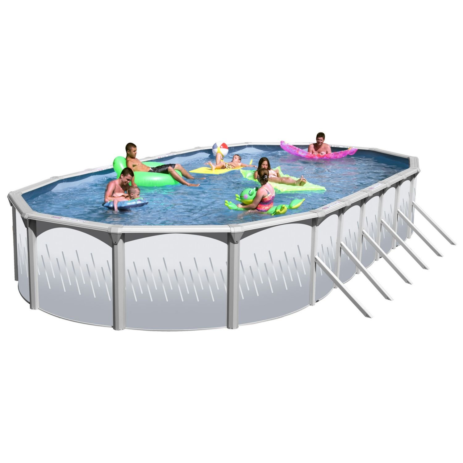 Oval Rock Complete Above Ground Pool Package