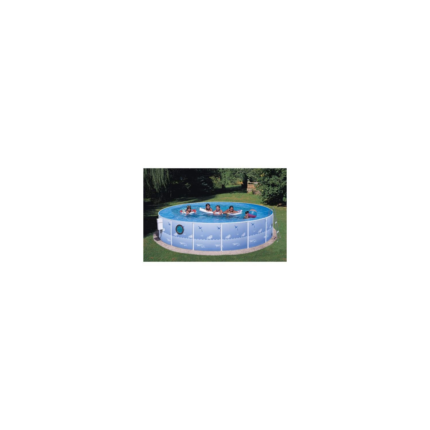 "Sun 'n' Fun 12' x 36"" Steel Pool with Porthole"