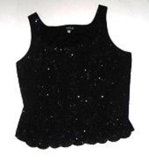 Pre-owned ONYX NITE Women's Black Sleeveless Top Size 2X