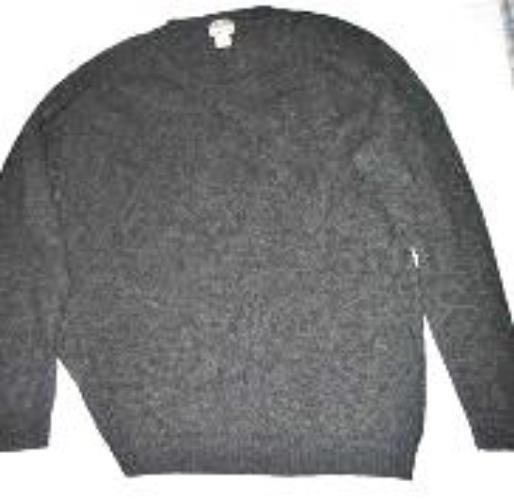 Pre-owned L.L. BEAN Men's Dark Grey Wool Sweater Size XXL
