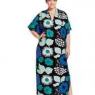 NWT MARIMEKKO x TARGET Women's Long Kaftan Dress-Kukkatori Blue Floral SZ 3X