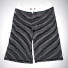 Pre-owned RALPH LAUREN Women's Black/White Stripe Shorts Size Large 12/14