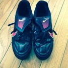 EUC Black w/ Pink Decal NIKE Women's Soccer Cleats SZ 7.5 US