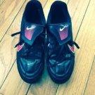 EUC Black w/ Pink Decal NIKE Women's Soccer Cleats SZ 7.5 US
