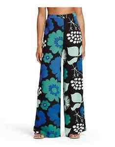 NWT MARIMEKKO x TARGET Kukkatori Women's Palazzo Pant- Blue Green Floral SZ XL
