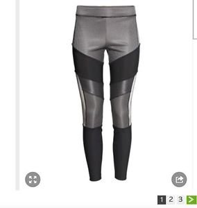 NWT Alexander Wang x H&M Reflective Leggings SOLD OUT SZ 6