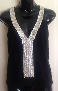 NWOT LucaLuca Faceted Rhinestone Jeweled T-Back Camisole SZ 44