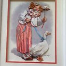 Arthur Saroff 3-D Clown Duck Wood Framed Print Handmade Details Craft Nursery