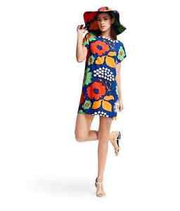 MARIMEKKO x Target Women's Tunic Dress Kukkatori  Floral Print SZ L/XL